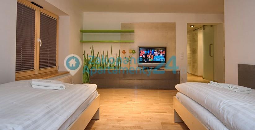 przytulna sypialnia w apartamencie w Zakopanem - aquapark 4