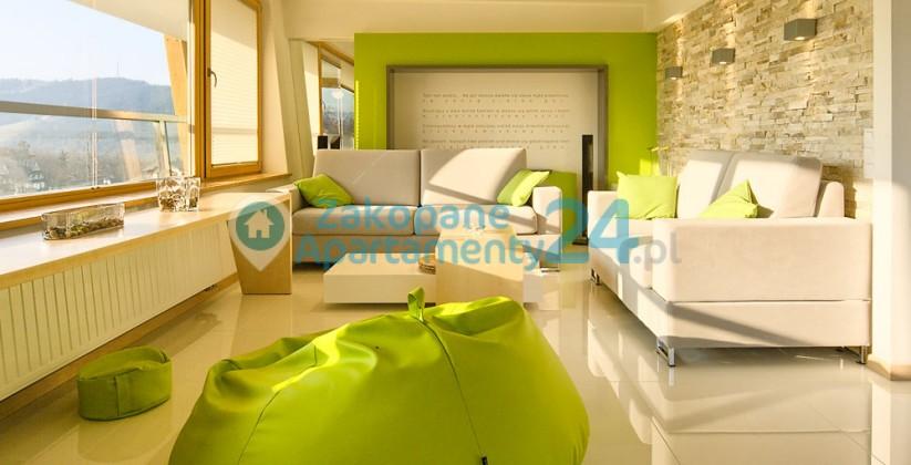 luksusowy salon w apartamencie w zakopanem - aquapark 5