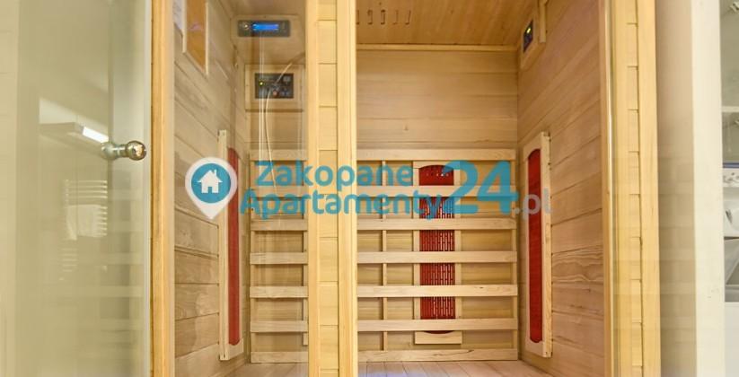 sauna w apartamencie aquapark