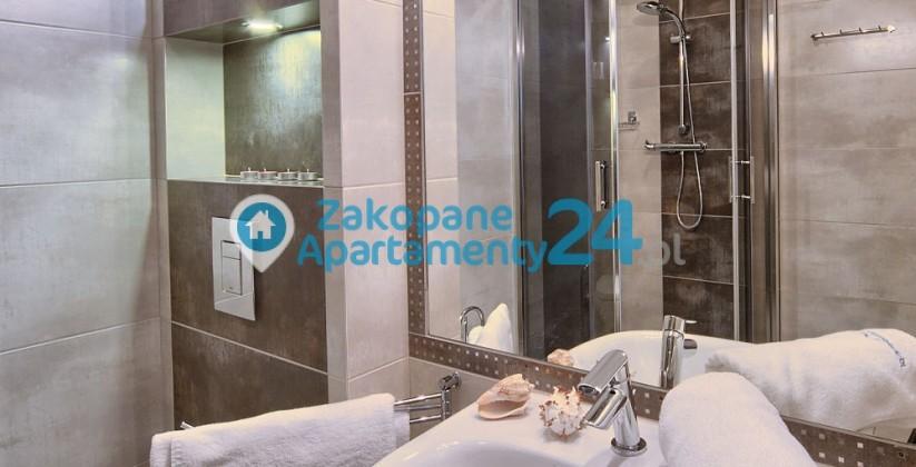 zakopane apartament - wyposażona łazienka