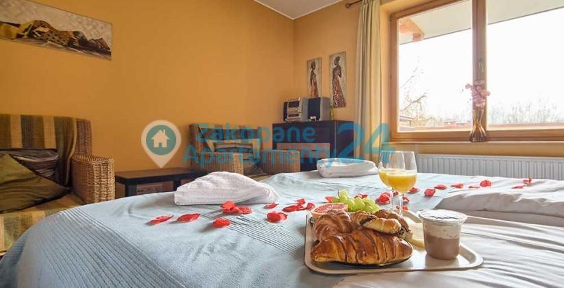 zakopane apartament centrum 5 romantyczne śniadanie
