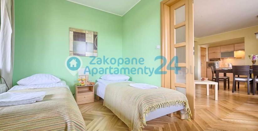 apartament centrum 5 w Zakopanem sypialnia