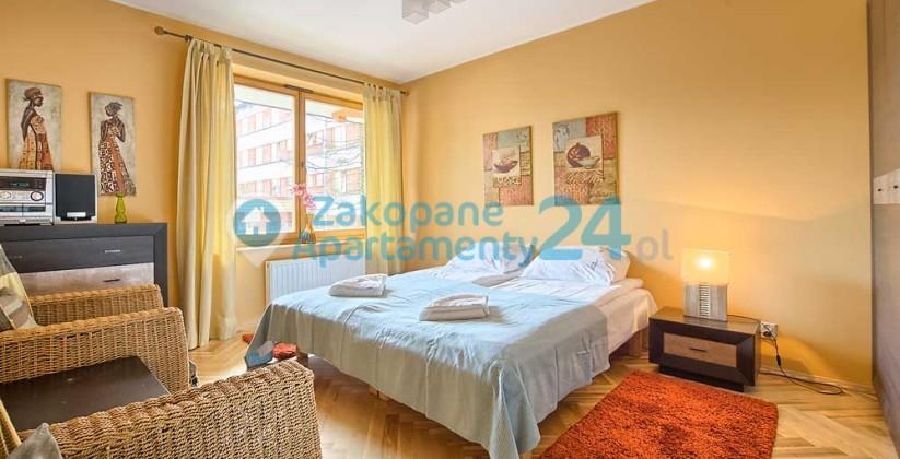 sypialnia dla dwojga w apartamencie centrum - Zakopane