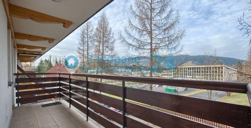 widok z balkonu w apartamencie centrum 5 w Zakopanem