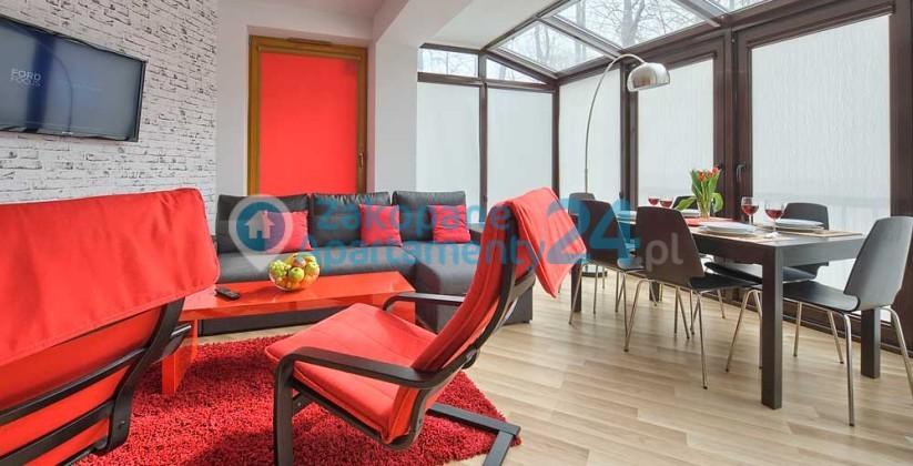 salonw apartamencie w centrum Zakopanego
