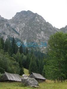 Dolina roztoki szczyt