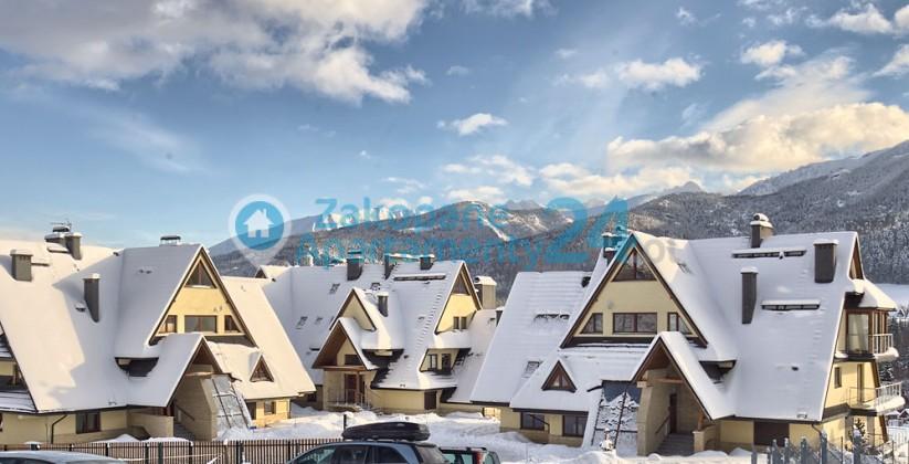 Piękny wiod na zaśniezone Tatry z apartamenu w Zakopanem