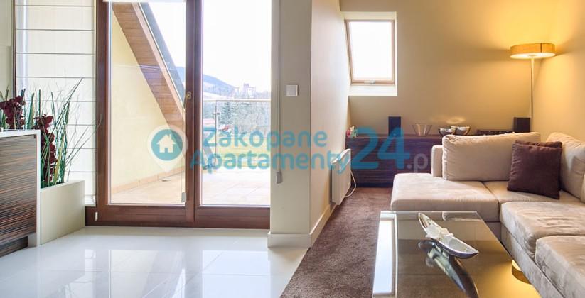apartament Zakopane Szymoszkowa salon-