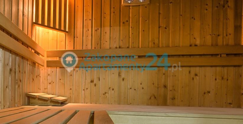 sauna w apartamencie SPA w okolicach Polany Szymoszkowej