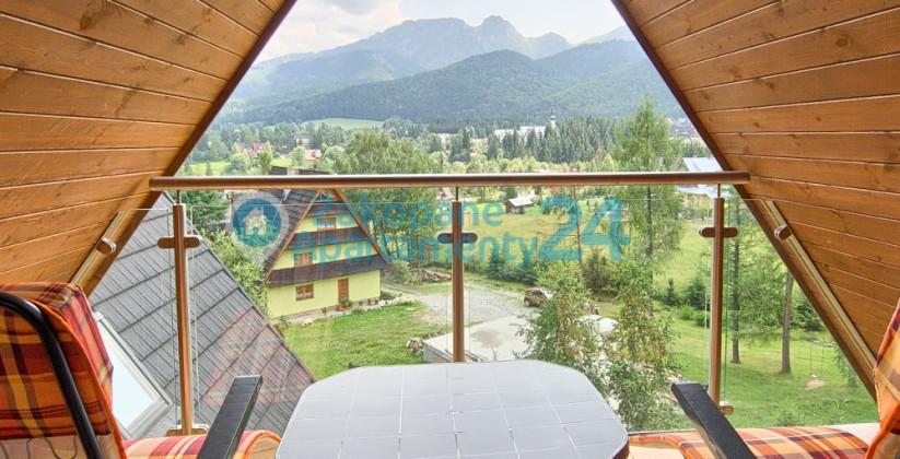 balkon i piękny widok z apartamentu w Szymoszkowej