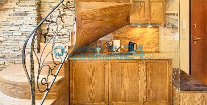 ankes kuchenny w stylowym apartamencie na wakacje w Zakopanem